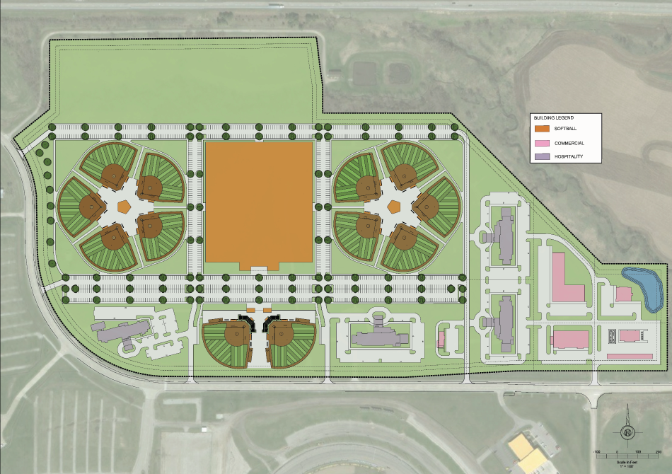 Project Fastpitch Site Plan | Premier Softball Facilities Newton Iowa | projectfastpitch.com